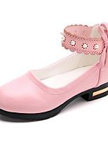 Недорогие -Девочки обувь Искусственное волокно Весна Осень Удобная обувь Крошечные Каблуки для подростков Обувь на каблуках для Повседневные Белый