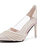 economico -Per donna Scarpe PU (Poliuretano) Primavera Comoda Tacchi A stiletto Appuntite per Casual Bianco Nero Bianco/nero
