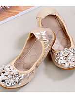 cheap -Girls' Shoes Leatherette Spring Fall Comfort Flats for Casual Silver Gold