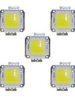 cheap -50W COB 3800LM 3000-3200K/6000-6200K Warm White/White LED Chip DC30-36V 5Pcs