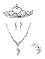 cheap -Women's Tiaras Bridal Jewelry Sets Rhinestone Fashion European Wedding Party Imitation Diamond Alloy Geometric Line Body Jewelry 1