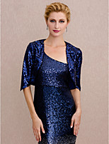 cheap -Half Sleeves Sequin Wedding Party / Evening Women's Wrap Shrugs