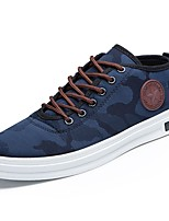 cheap -Men's Shoes Synthetic Microfiber PU Winter Fall Comfort Sneakers for Casual Blue Red Gray Black