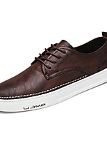 cheap -Men's Shoes PU Fall Comfort Loafers & Slip-Ons for Casual Brown Black