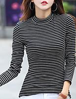economico -T-shirt Per donna A strisce Girocollo - Cotone