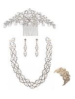 Недорогие -Жен. Гребни Свадебные комплекты ювелирных изделий Стразы европейский Мода Свадьба Для вечеринок Искусственный жемчуг Искусственный