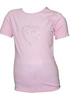 abordables -Haut de Patinage Artistique Femme Fille Patinage Hauts/Top Rose Extensible Utilisation Exercice Tenue de Patinage Couleur Pleine Manches