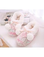 economico -Per donna Scarpe Felpato Inverno Autunno Comoda Pantofole e infradito Ballerina Punta chiusa per Casual Rosa Cachi