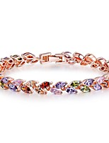 cheap -Women's Bracelet Synthetic Ruby Classic Bohemian Sweet Zircon Copper Circle Leaf Jewelry Christmas New Year Costume Jewelry