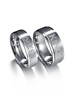 cheap -Men's Women's Couple Rings , 2pcs Asian Cute Fashion Stainless Letter Jewelry Date Valentine