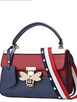 cheap -Women Bags PU Tote Pockets for Outdoor Winter Fall Black Blue