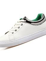 Недорогие -Для мужчин обувь Искусственное волокно Весна Осень Удобная обувь Кеды для Повседневные Розовый и белый Wit En Groen