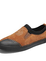 cheap -Men's Shoes Pigskin Nappa Leather Spring Fall Comfort Loafers & Slip-Ons for Casual Outdoor Black Gray Brown
