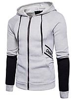 cheap -Men's Petite Daily Casual Hoodie Solid Hooded Micro-elastic Cotton Long Sleeve Spring/Fall Autumn/Fall
