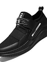 Недорогие -обувь Тюль Весна Лето Удобная обувь Кеды для Повседневные на открытом воздухе Белый Черный Черно-белый