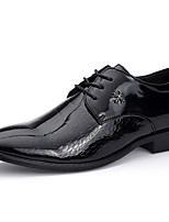 cheap -Men's Shoes Patent Leather Spring Fall Formal Shoes Comfort Oxfords for Casual Party & Evening Black
