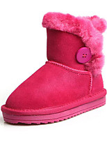 cheap -Girls' Shoes Nubuck leather Winter Fall Comfort Snow Boots Boots Booties/Ankle Boots for Casual Camel Blue Coffee Fuchsia Gray