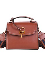 cheap -Women Bags PU Shoulder Bag Buttons for Casual All Season Brown Red Black Green