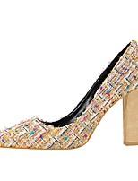Недорогие -Жен. Женские Обувь Дерматин Весна Осень Удобная обувь Обувь на каблуках На толстом каблуке Заостренный носок Пайетки для Для праздника