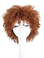 economico -Capelli sintetici Parrucche Riccio Parrucca riccia stile afro Taglio corto spettinato Con frangia Parrucca di Halloween Parrucca di