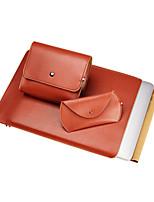 Недорогие -MacBook Кейс Рукава для Один цвет Сплошной цвет Искусственная кожа материал MacBook Air, 11 дюймов
