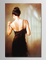 cheap -Hand-Painted People Vertical, Simple Modern Canvas Oil Painting Home Decoration One Panel