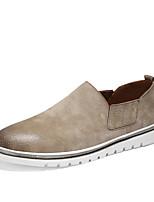Недорогие -Муж. обувь Свиная кожа Весна Осень Удобная обувь Мокасины и Свитер для Повседневные Черный Серый Коричневый Хаки