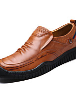 cheap -Men's Shoes Cowhide Spring Fall Comfort Loafers & Slip-Ons for Casual Dark Brown Light Brown Black