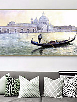 cheap -Landscape Illustration Wall Art,Copper Material With Frame For Home Decoration Frame Art Living Room