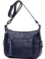 cheap -Women Bags PU Polyester Shoulder Bag Zipper Tassel for Casual All Season Wine Black Blue