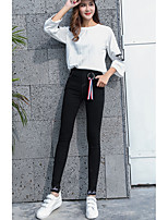 cheap -Women's Cotton Polyester Opaque Solid Color Legging,Solid This Style is TRUE to SIZE.