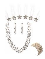 preiswerte -Damen Ketten- & Glieder-Armbänder Braut-Schmuck-Sets Strass Künstliche Perle Diamantimitate Aleación Blume Modisch Europäisch Hochzeit