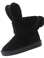 Недорогие -Для женщин Обувь Полиуретан Весна Осень Удобная обувь Ботинки Плоские для Черный Серый