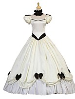 cheap -Rococo Victorian Costume Women's Adults' One Piece Dress Ivory Vintage Cosplay Taffeta Short Sleeves Puff/Balloon Ankle Length