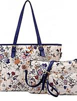 cheap -Women Bags PU Polyester Bag Set 3 Pcs Purse Set Pattern / Print Zipper for Casual All Season Red Black Blue