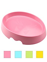 cheap -Cat Bowls & Water Bottles Pet Bowls & Feeding Ergonomic Design Durable Yellow Green Blue Pink