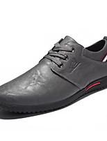 Недорогие -Муж. обувь Наппа Leather Кожа Весна Осень Удобная обувь Мокасины и Свитер для Повседневные Черный Серый Винный