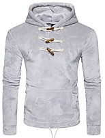 cheap -Men's Petite Daily Casual Hoodie Solid Hooded Hoodies Micro-elastic Polyester Long Sleeve Winter Fall