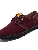 cheap -Men's Shoes PU Spring Fall Comfort Oxfords for Outdoor Brown Blue Burgundy