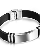cheap -Men's Bangles , Fashion Silica Gel Circle Jewelry Gift Daily Costume Jewelry