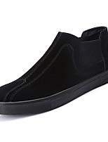 Недорогие -Муж. обувь Полиуретан Весна Осень Удобная обувь Мокасины и Свитер для Черный