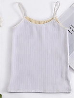 cheap -Women's Daily Simple Summer Tank Top,Solid Strap Sleeveless Cotton