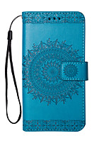 cheap -Case For Samsung Galaxy J7 (2017) J5 (2017) Card Holder Wallet with Stand Flip Embossed Full Body Solid Color Hard PU Leather for J7