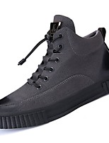 cheap -Men's Shoes Synthetic Microfiber PU Winter Fall Comfort Sneakers for Casual Brown Gray Black