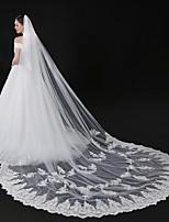 Недорогие -Один слой Современный Аксессуары Цветочный дизайн Кружевная кромка Свадьба Крупногабаритные С кружевами европейский Принцесса Свадебные