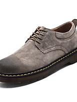 Недорогие -Муж. обувь Свиная кожа Весна Осень Удобная обувь Кеды для Work & Safety Черный Серый Хаки