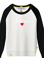 cheap -Men's Daily Sports Solid Letter Round Neck Sweatshirt Short, Long Sleeves Winter Fall Cotton Polyester