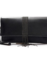 cheap -Women Bags PU Clutch Buttons Tassel for Casual All Season Black