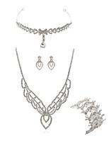 abordables -Femme Bijoux de Front Nuptiales Parures Strass Européen Mode Mariage Soirée Imitation Diamant Alliage Bijoux de Corps 1 Collier 1
