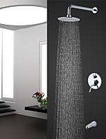 Недорогие -Современный На стену Дождевая лейка Ручная лейка входит в комплект Хром , Смеситель для душа